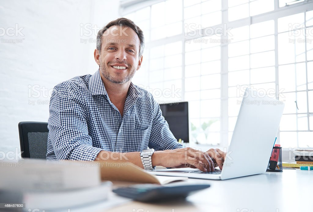 My business is small but getting bigger by the day! stock photo