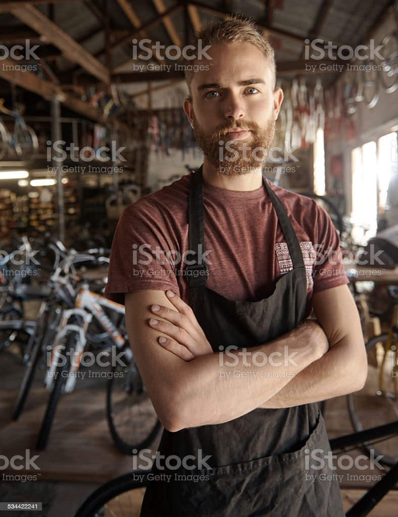My business, my life, my terms stock photo