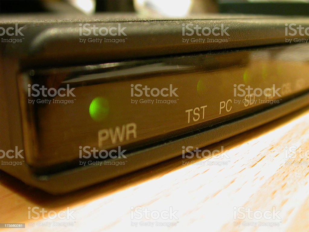 My cable modem royalty-free stock photo