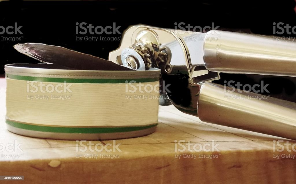 My Can of Lunch is Now Open stock photo