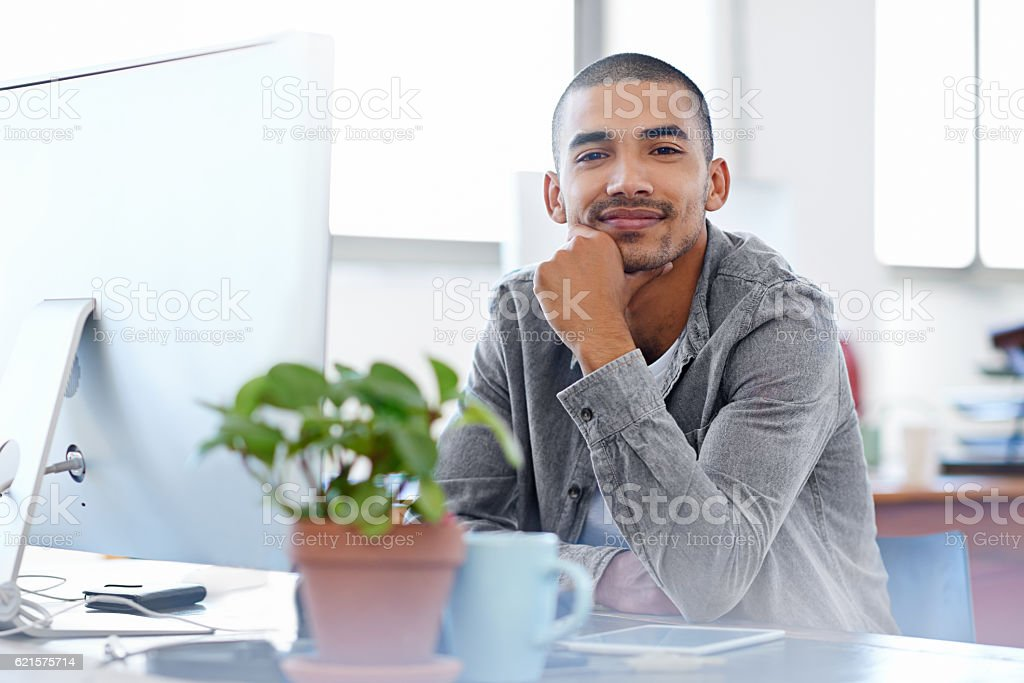 My career is going exactly as planned stock photo