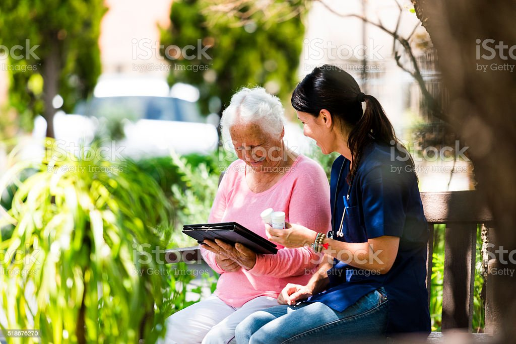 My Caregiver is Compassionate stock photo