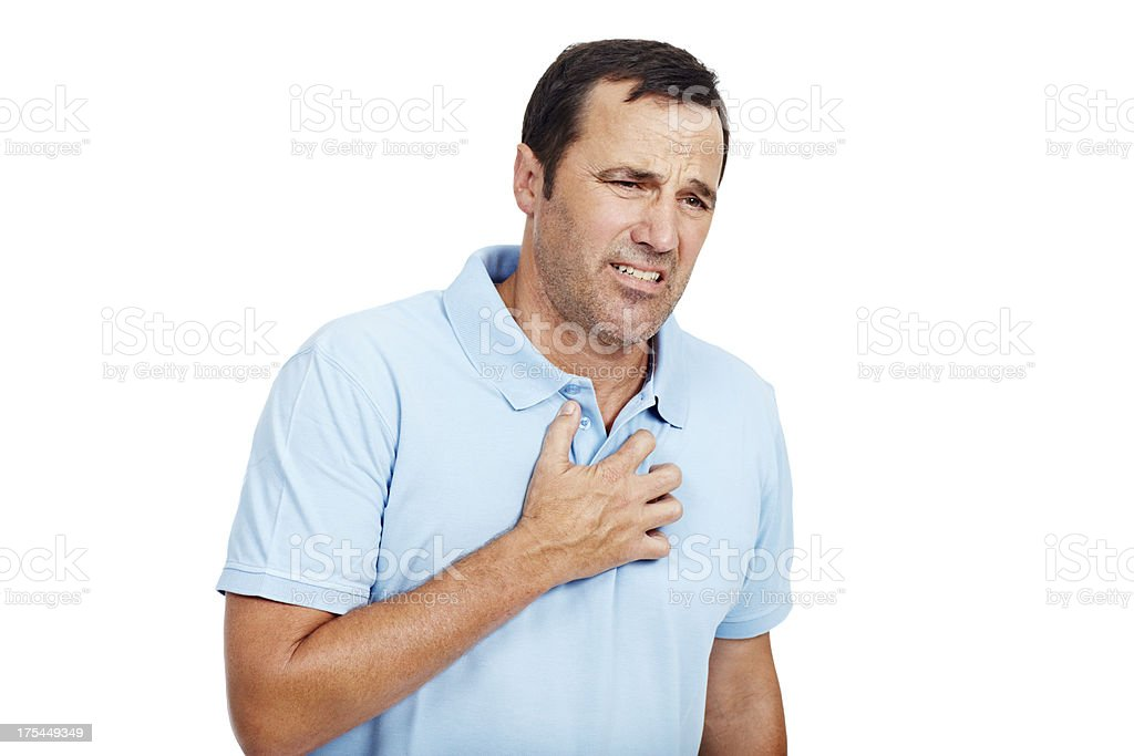 My chest feels so painful stock photo
