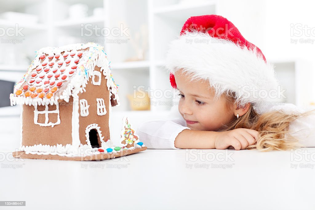 My christmas gingerbread cookie house royalty-free stock photo
