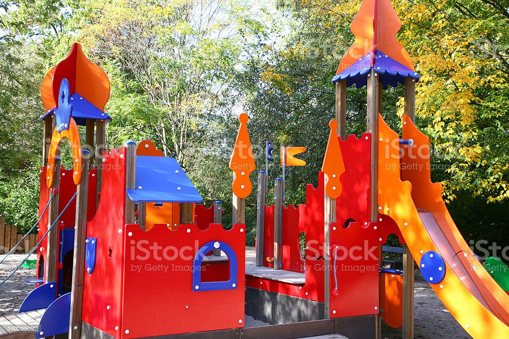 my colorful castle stock photo