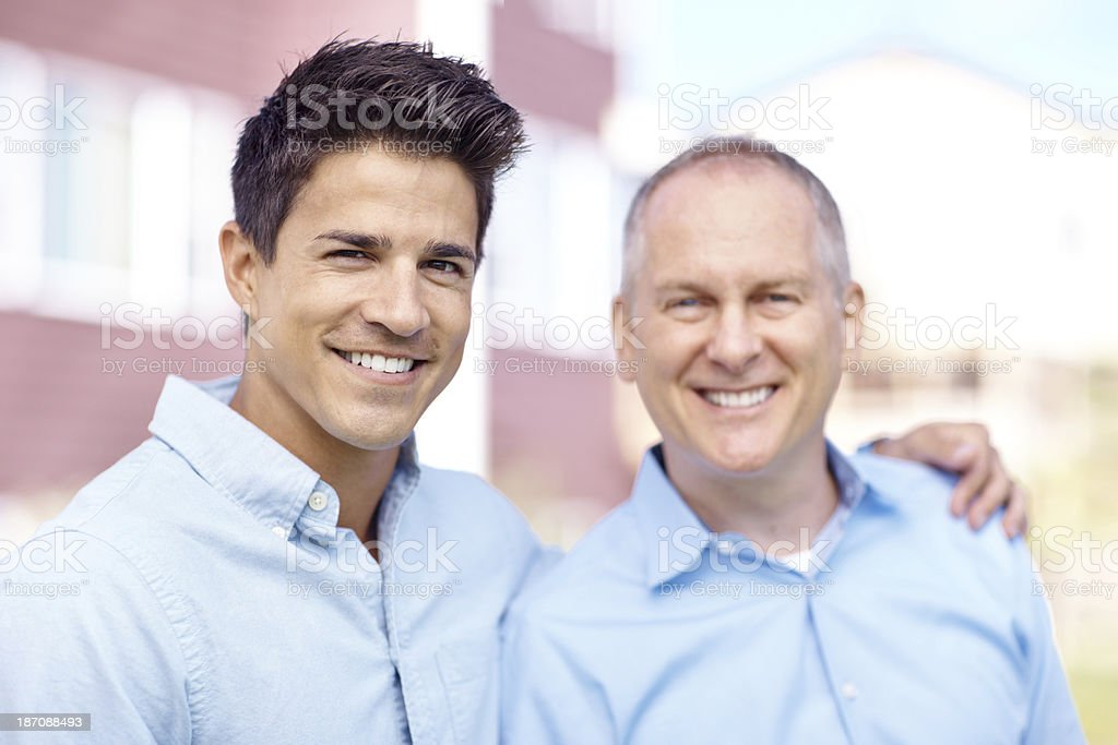 My dad is always there for me royalty-free stock photo