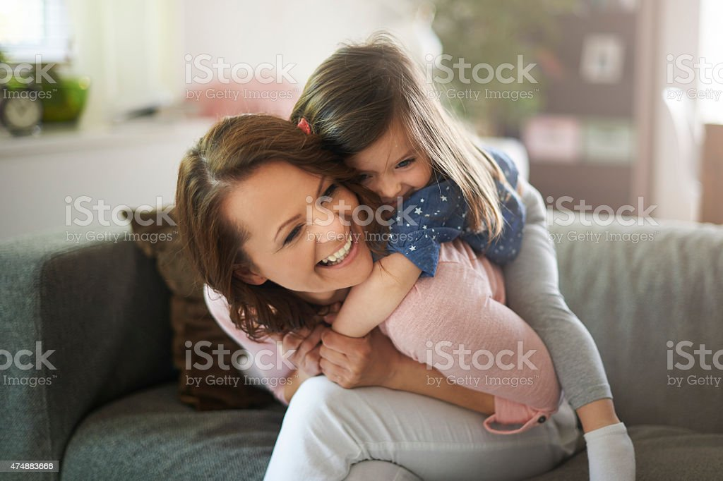 My daughter gives me so much happiness stock photo
