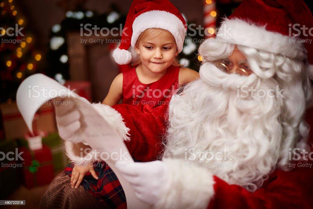 My dear, your wish list seems very long stock photo
