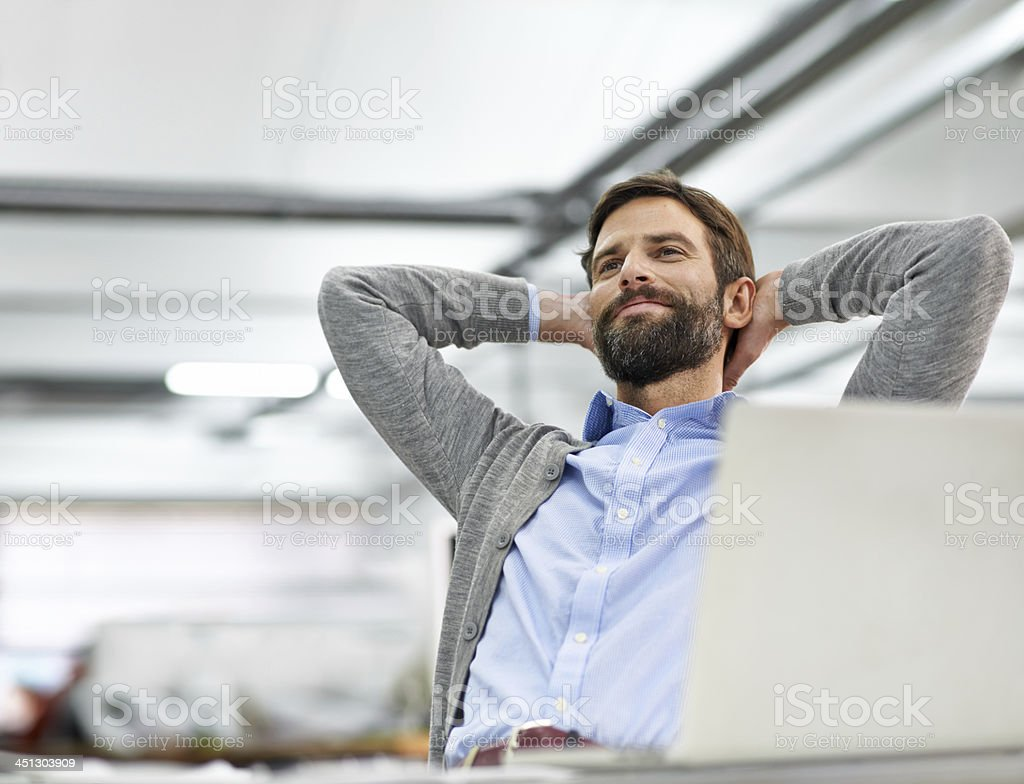 My dreams of success are coming true... stock photo