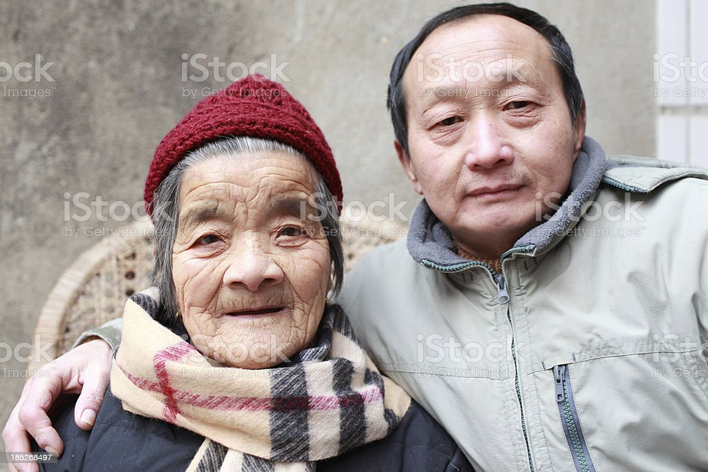 My father and aunt royalty-free stock photo