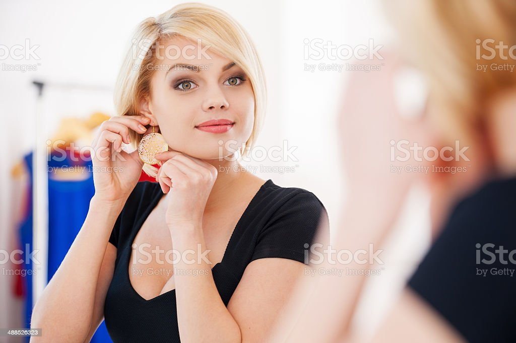 My favorite earrings! stock photo