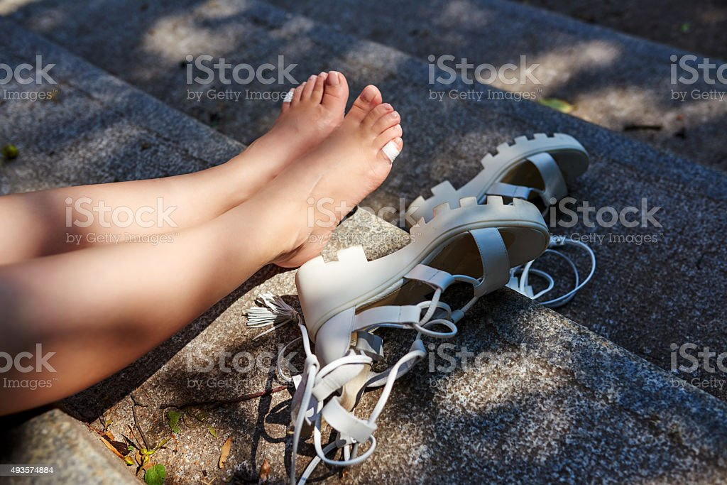 my feet hurts stock photo