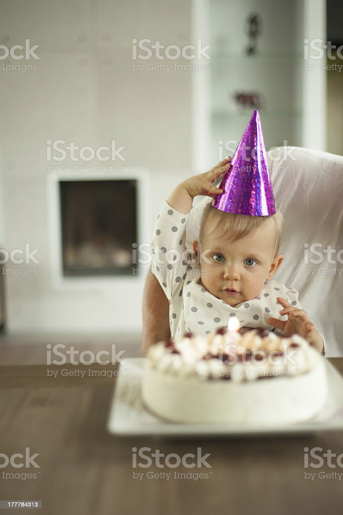 My first birtday stock photo