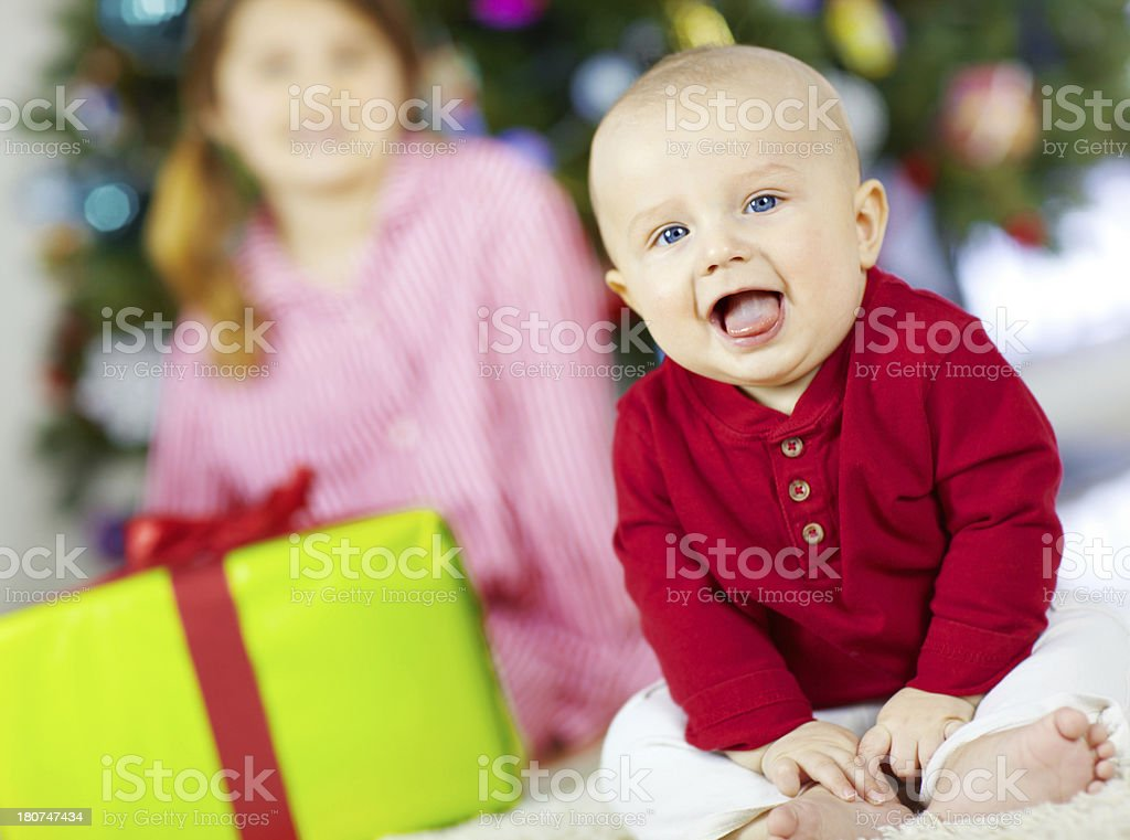 My first Christmas royalty-free stock photo