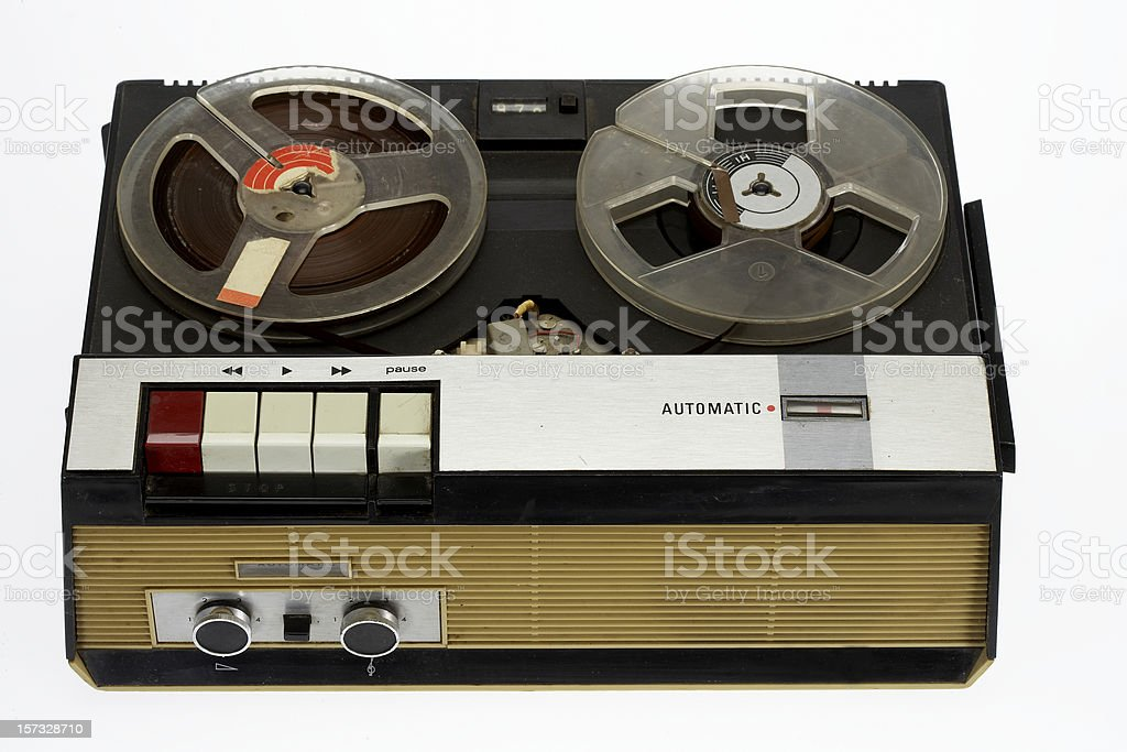 My first tape recorder (70ies) stock photo