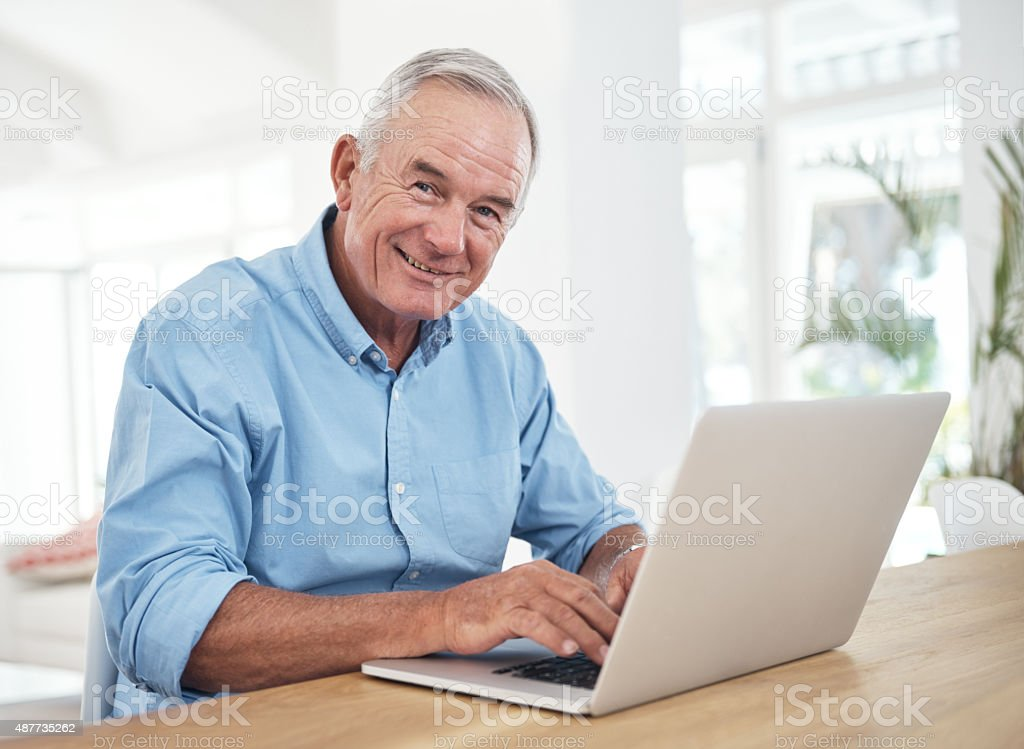 My free time is usually spent online now stock photo