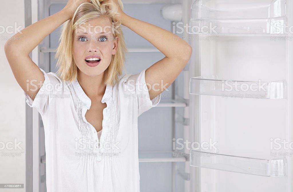 My fridge is empty! stock photo