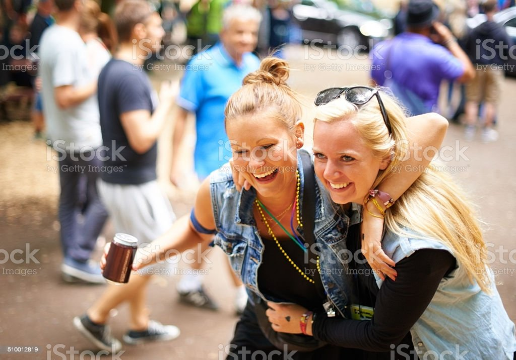 My friend is someone I can lean on! stock photo