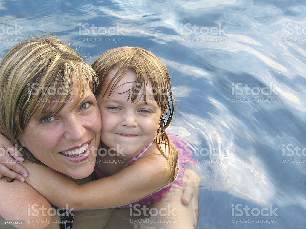 My Fun Day at the Pool royalty-free stock photo