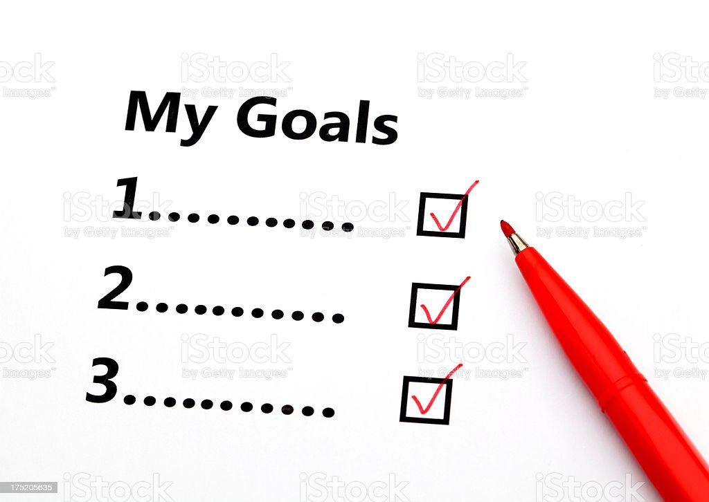 My Goals royalty-free stock photo