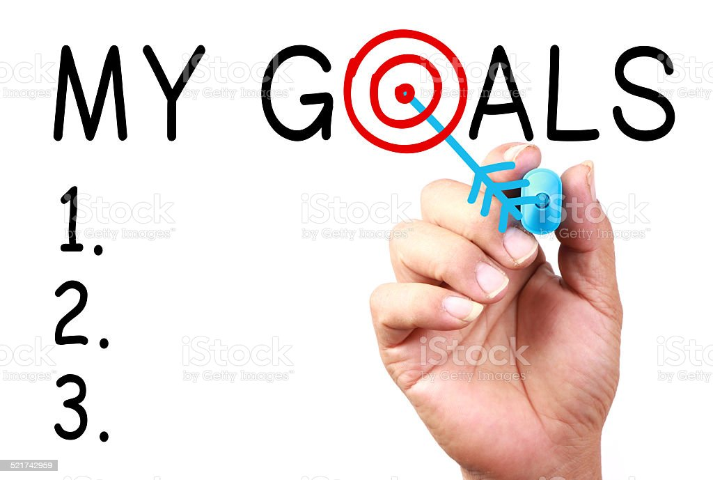 My Goals stock photo