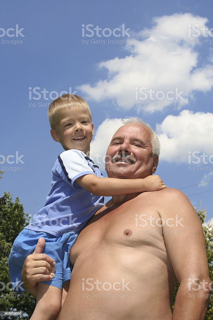 My grandfather stock photo