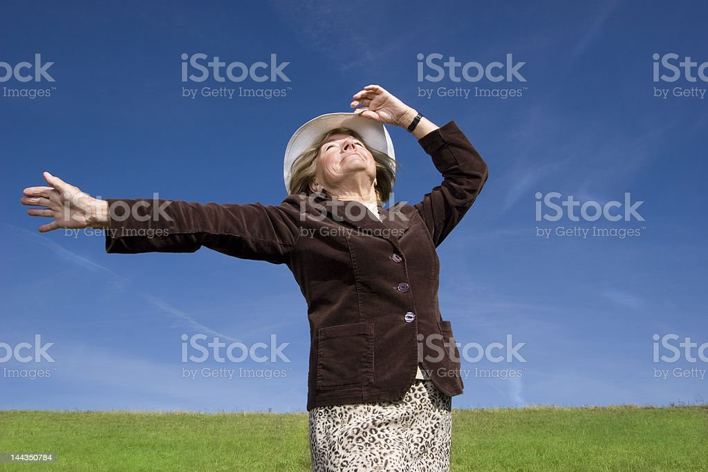 My Grandma Freedom and joy royalty-free stock photo
