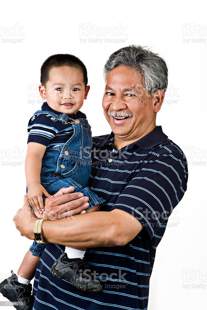 my grandpa and me royalty-free stock photo