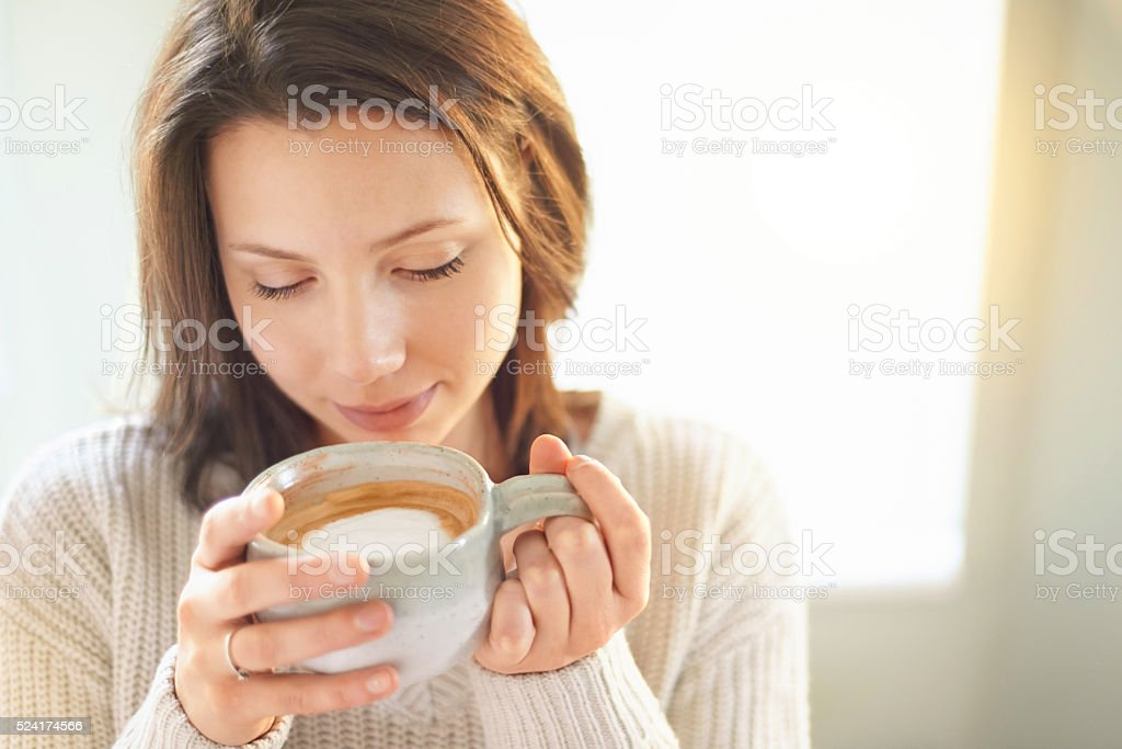 My great love affair with coffee stock photo