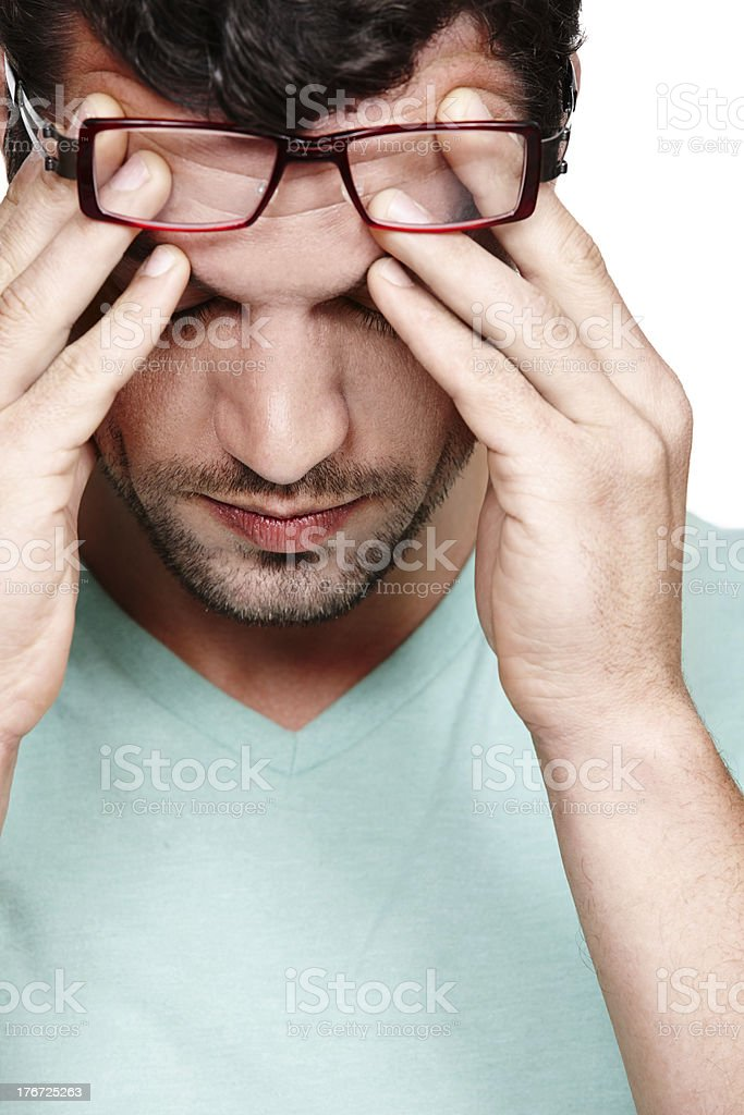 My head feels like its about to explode! royalty-free stock photo