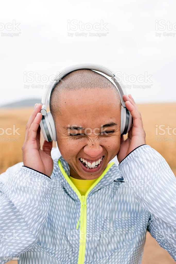 My Headphones Offer Quality Sound stock photo
