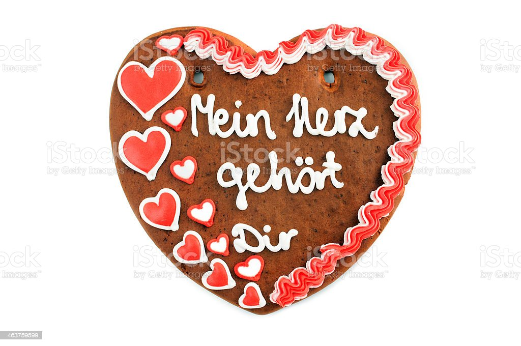 My heart belongs to you valentines day gingerbread cookie royalty-free stock photo