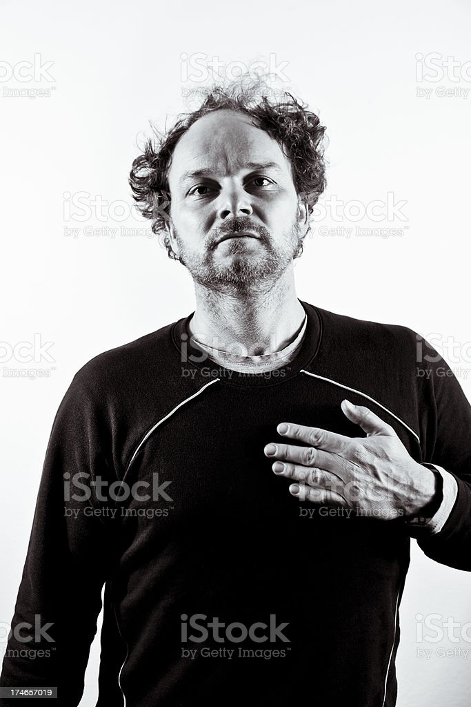 my heart man stock photo