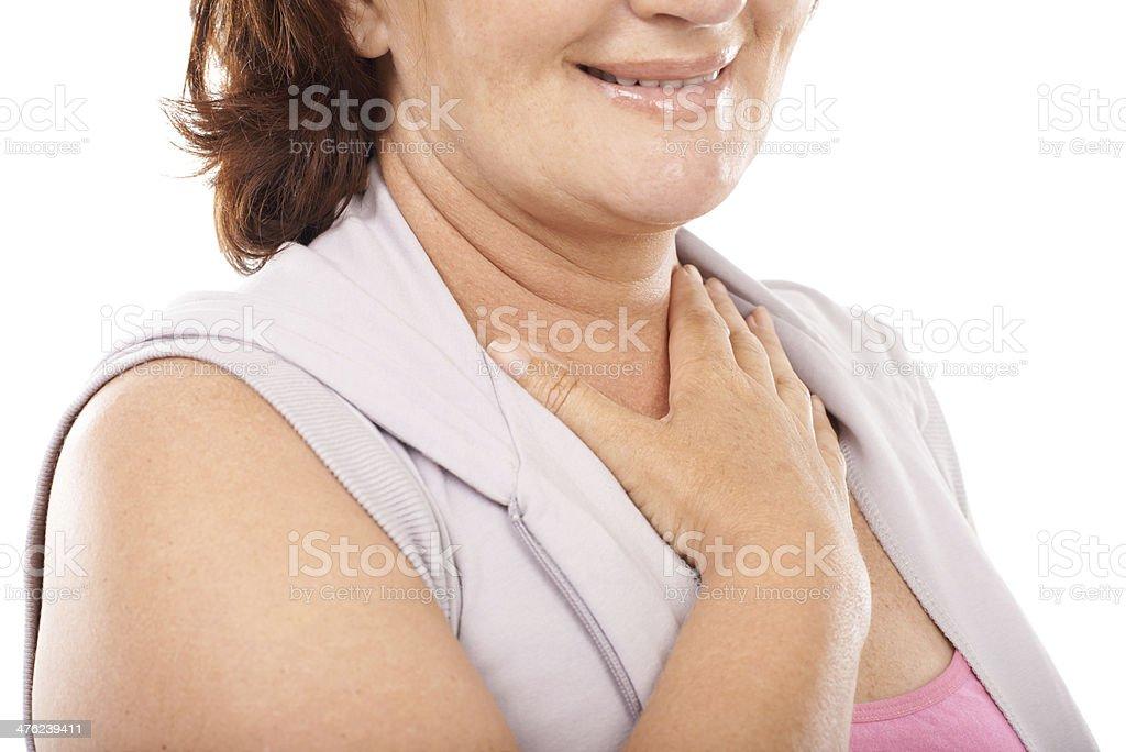 My heartbeat feels fine stock photo