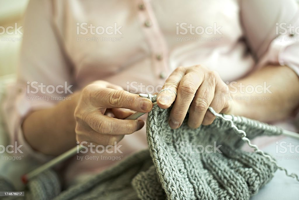 My hobby is knitting stock photo