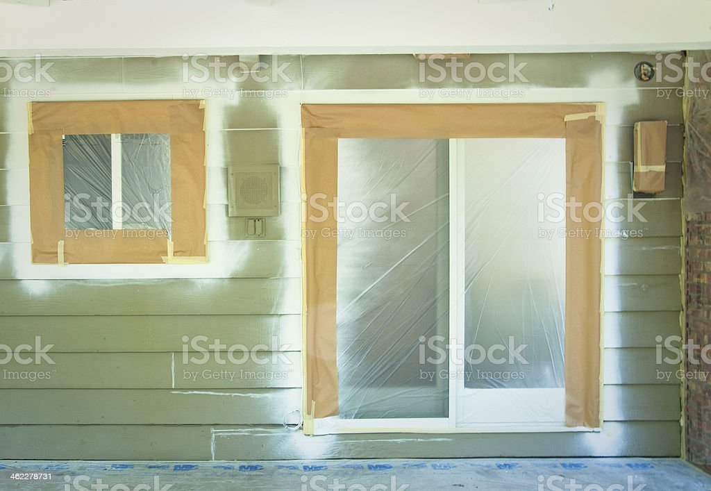 My Home is getting a paint job stock photo