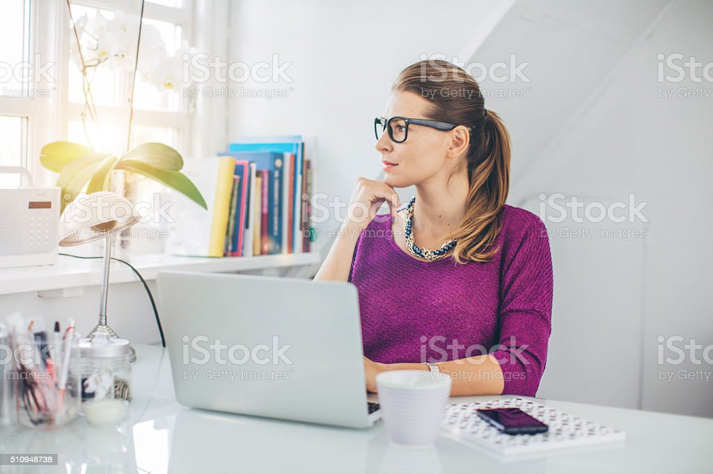 My home is my office stock photo