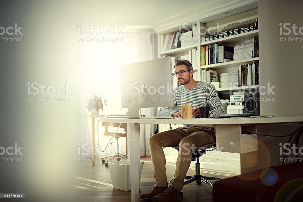 My home office meets my needs stock photo