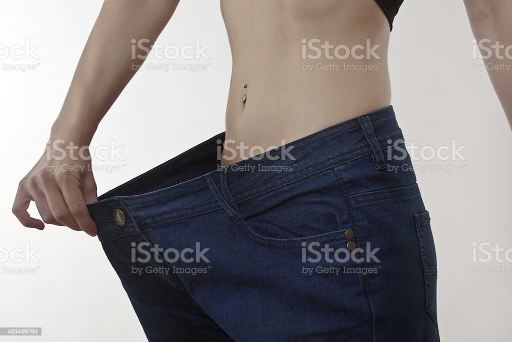 My jeans are to big stock photo