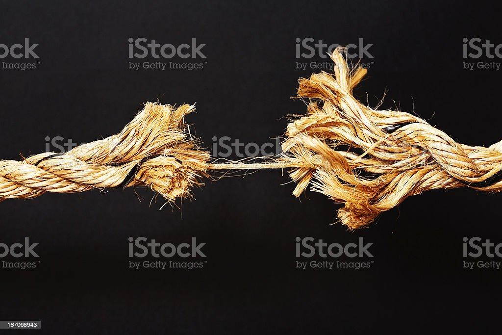 My last nerve is about to snap, watch out! stock photo