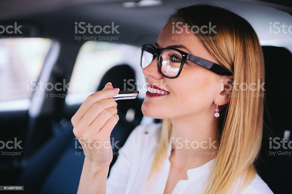 My lipstick stock photo