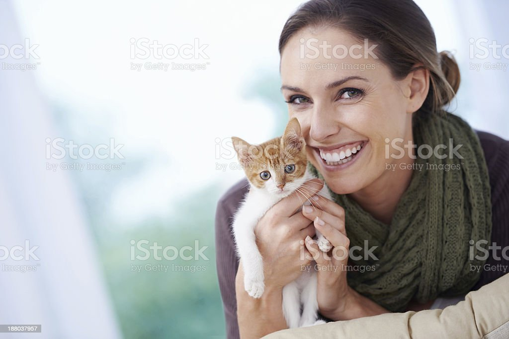 My little furry friend stock photo