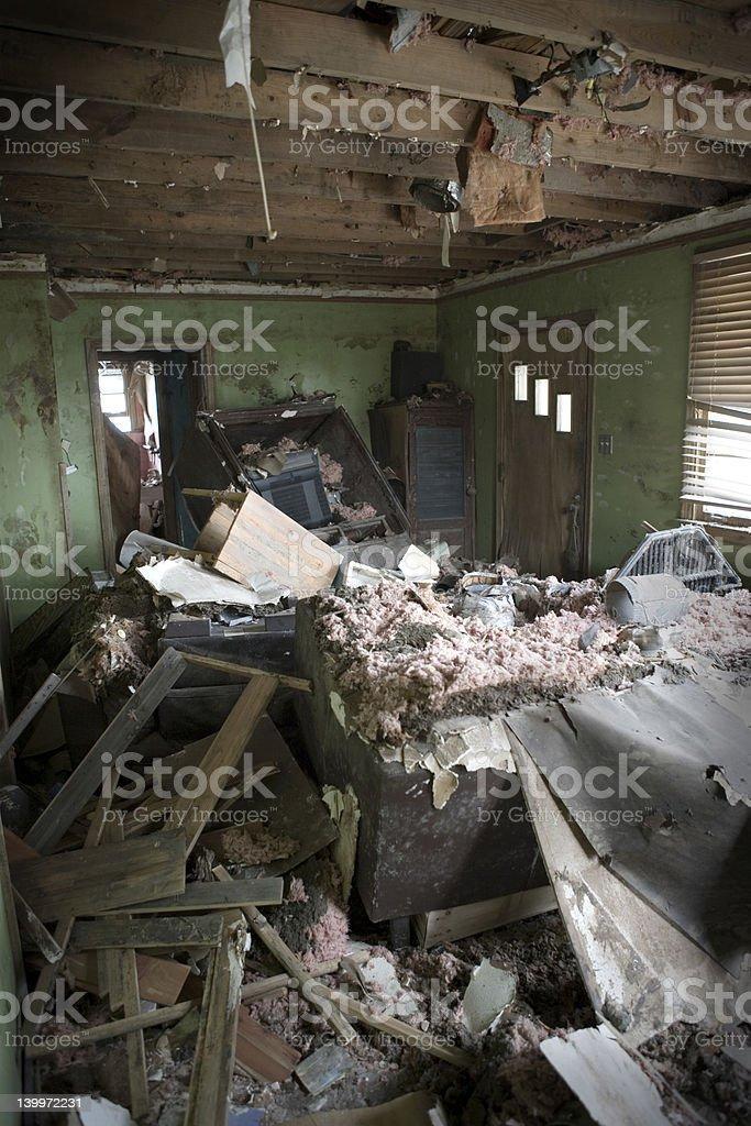 My Living room after Katrina royalty-free stock photo