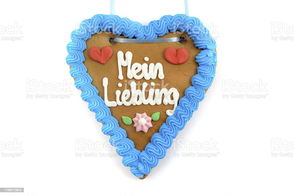 My Love gingerbread heart for Oktoberfest stock photo