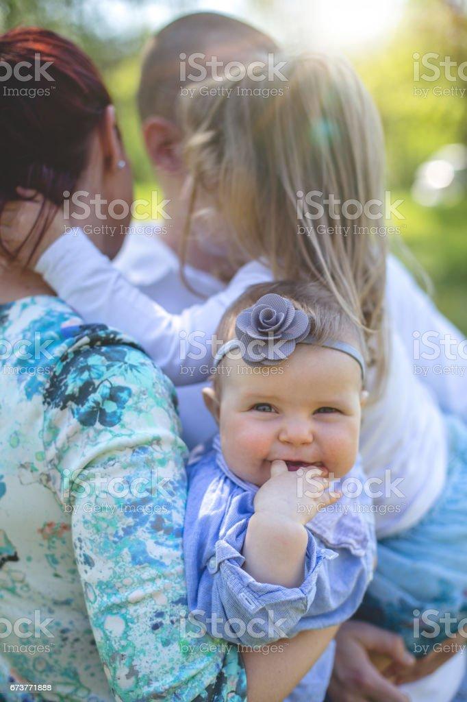 My loving family stock photo