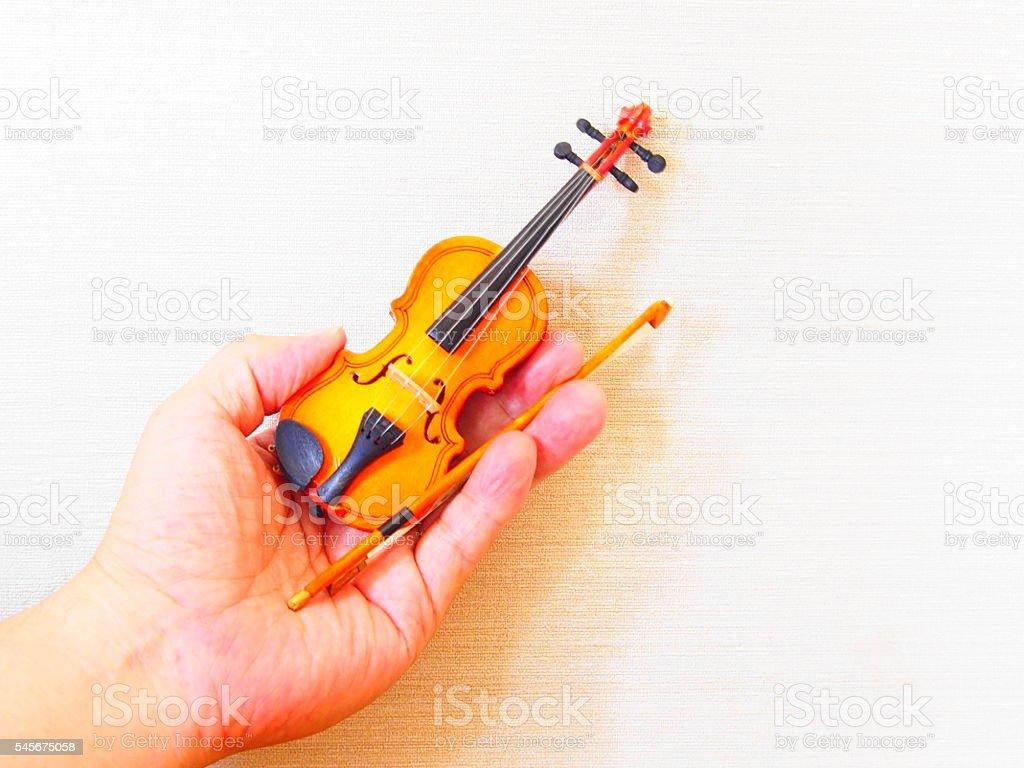 My miniature violin stock photo