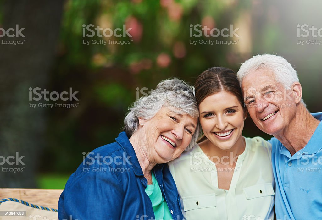 My mom and dad mean the world to me! stock photo