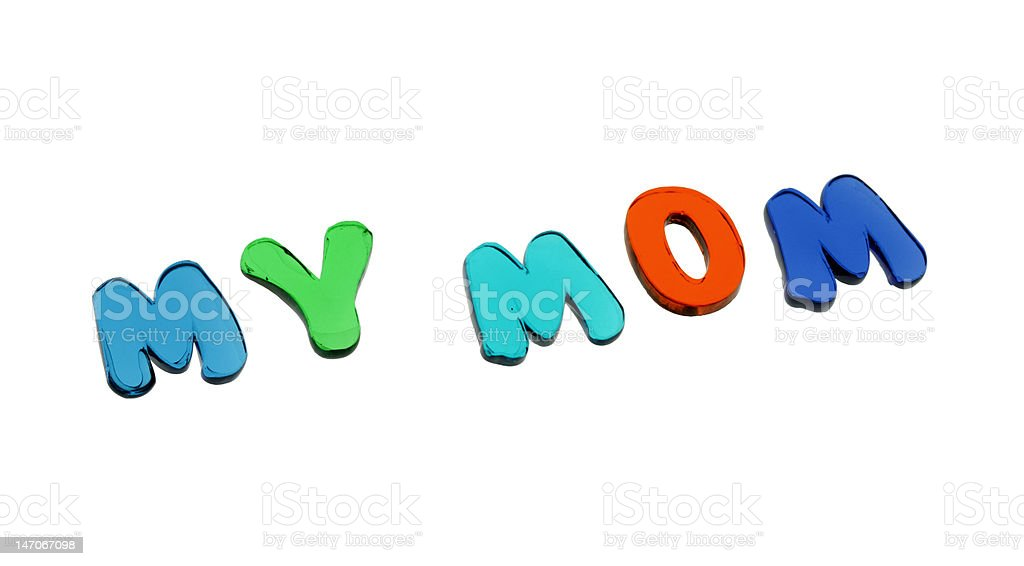 my mom / gel letters royalty-free stock photo