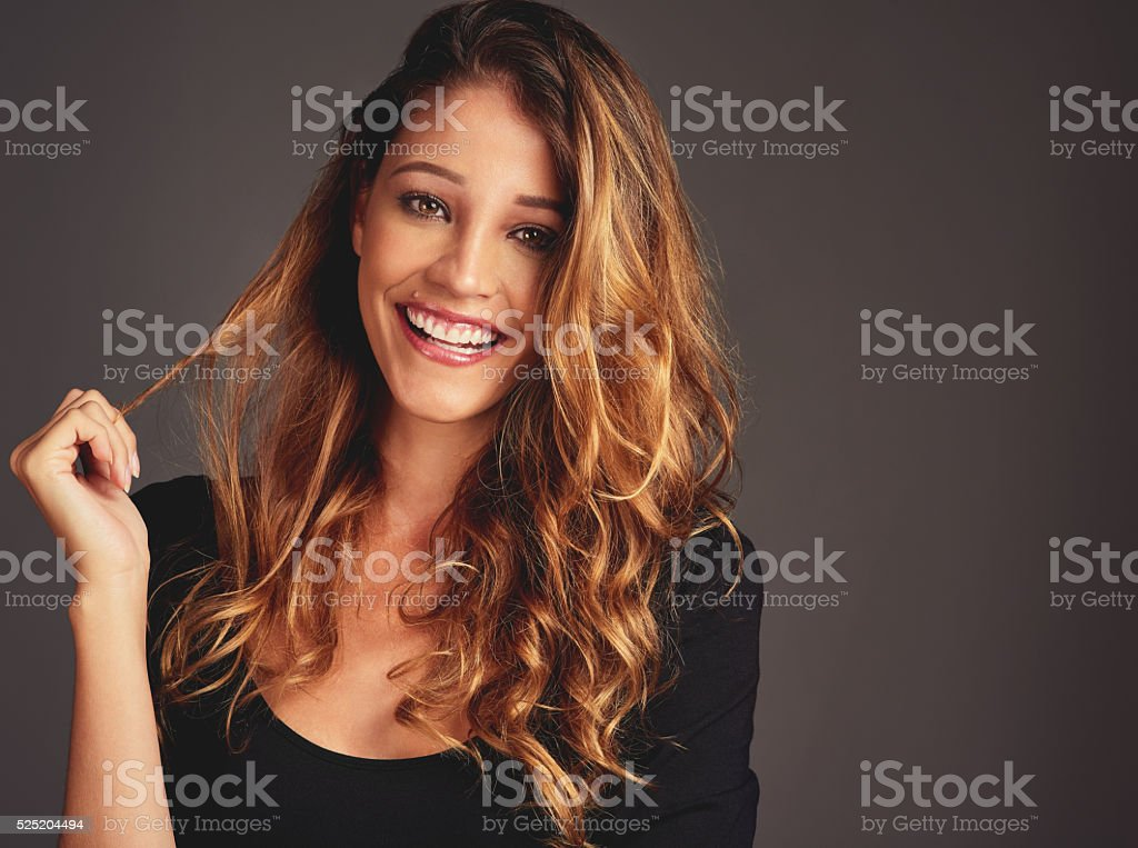 My mood depends on how good my hair looks stock photo