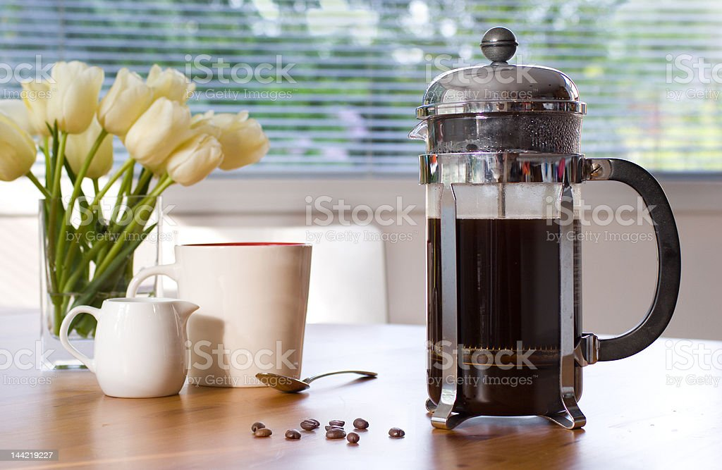 my morning cup of coffee stock photo